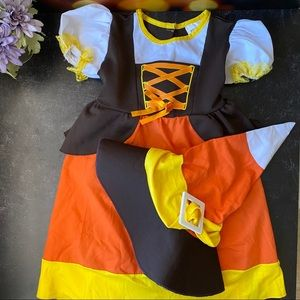 Candy Corn Baby Girl Costume Sz Toddler 3-4 mos.